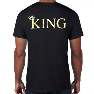 MLK Black T-shirt with Gold Vinyl