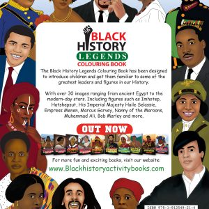 Black History Legends Colouring Book